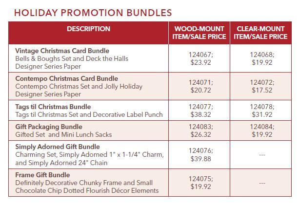 Holiday Promotion Bundles 101910