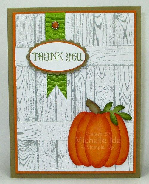 Thank You Punch Pumpkin Card 100114